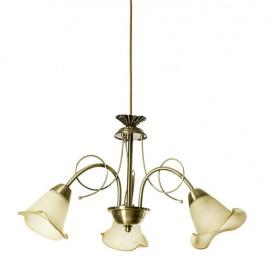 Lámpara Marsella 3xe14 Cuero 48d