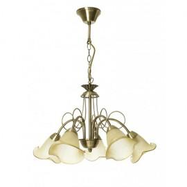 Lámpara Marsella 5xe14 Cuero 57d