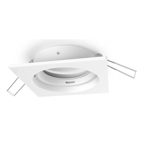 Empotrable Inteca Cuadrado Orientable Blanco 8x8 Portalampara No Incluido
