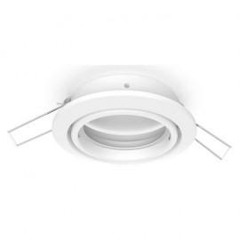 Empotrable Inteca redondo orientable blanco 8d