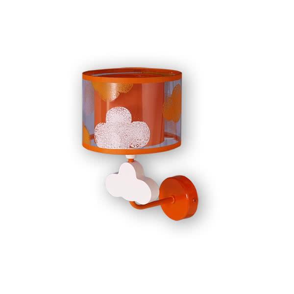 Aplique Nube Naranja 1xe14 (28x17)