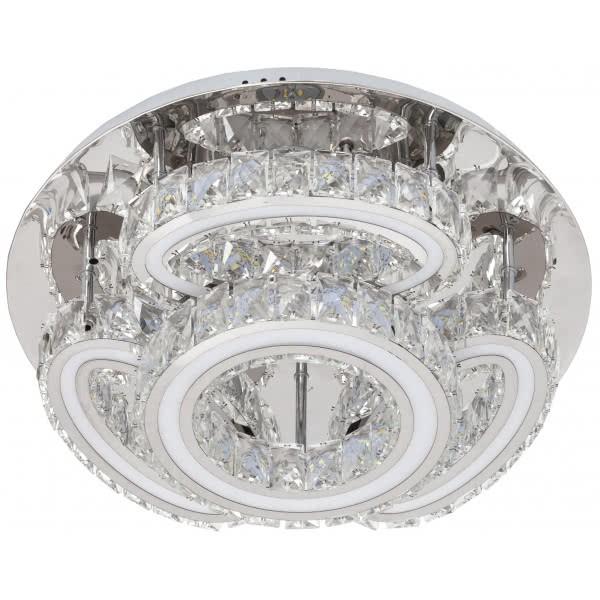 Plafon Led 92w Cristal Copernico 7360 Lm 18 X 50d  3temp. 3000k, 4000k, 6000k