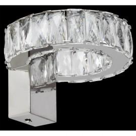 Aplique Led Cristal Zurique 12w 1000lm 4000k 11x16