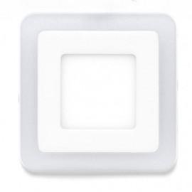 Downlight 3+3w 4000k Cuadrad. Fedra Blanco 480lm 10,5x10,5