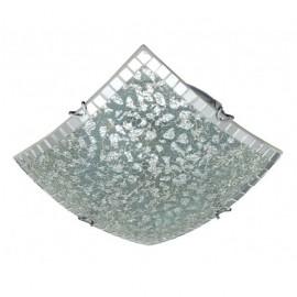 Plafon Cuadrado Carbono Cromo 3xe27 40x40