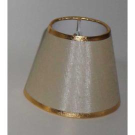 Pantalla Pequeña Beis Oro 12hx15dx9d  Pinzas