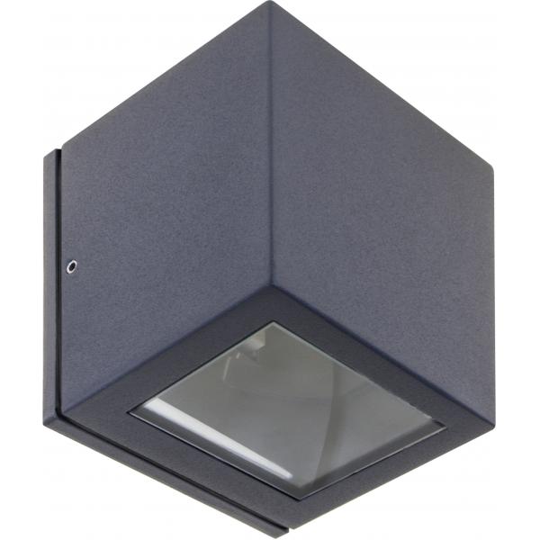 Aplique Exterior Cavalum Gris Oscuro 1xe27 Ip54 10x9x9