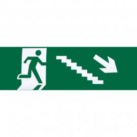 Adhesivo Salida Emergencia Escalera Derecha Bajada 6,5x20