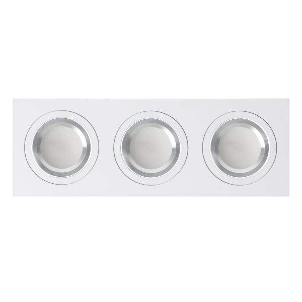 Regleta Foco Empotrar Blancocromo 3xg10 Incluida 18w 4000k 1800lm 26x9x2 Androide