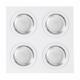 Plafon Foco Empotrar Blancocromo 4xg10 Incluida 24w 4000k 2400lm 17,5x17,5x2 Androide