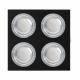Plafon Foco Empotrar Negrocromo 4xg10 Incluida 24w 4000k 2400lm 17,5x17,5x2 Androide