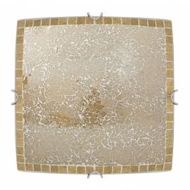 Plafon Cuadrado Carbono Ambar 2xe27 30x30