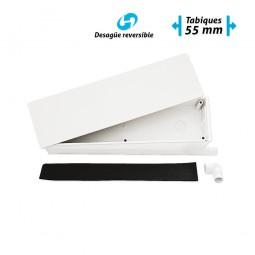 Caja de preinstalación de aire acondicionado con desagüe bidireccional