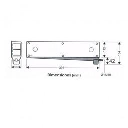 Caja de preinstalación de aire acondicionado con desagüe bidireccional y sifón