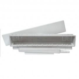 Caja súper de preinstalación con conexión para tubo salida horizontal