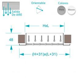 Rejilla Aluminio Doble Deflexión Lamas Horizontales