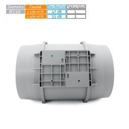 Extractor tubular intercalar en conducto con base MU-TT 250 PRO