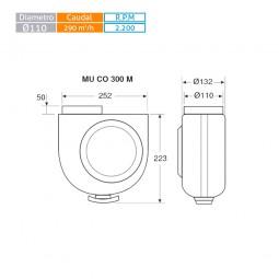 Ventilador centrífugo de cocina MUCO 300M