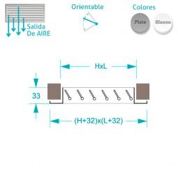 Rejilla retorno DH orientable