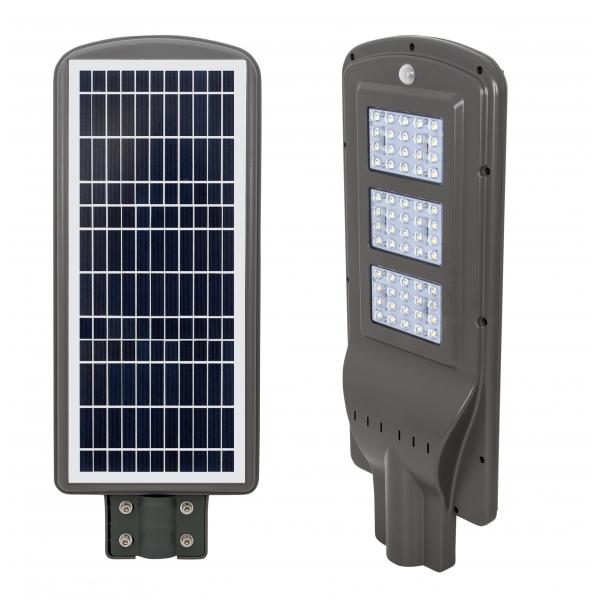 Farola Solar 60w 6000k Street Gris 62,7x24,8x6,6 1500lm Ip65