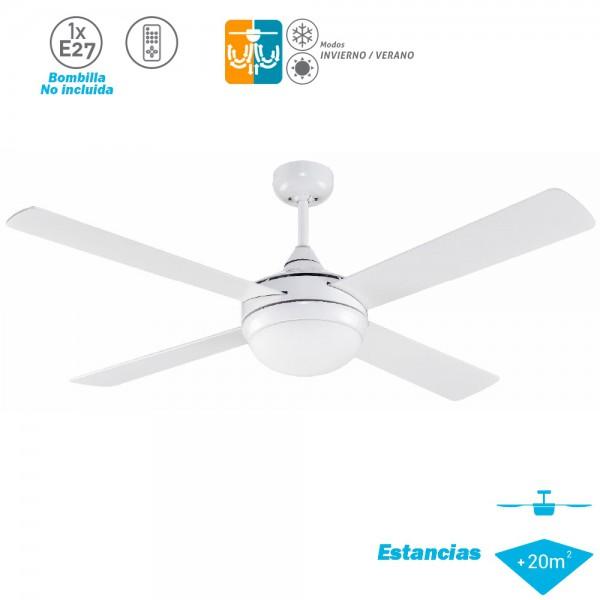 Ventilador Techo Modelo Millar Blanco Motor AC 4 palas 1xE27