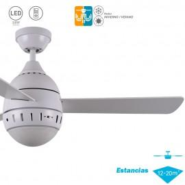 Ventilador de techo con luz Serie LOMBARDA Blanco