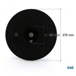 Base negra de policarbonato para bola E40