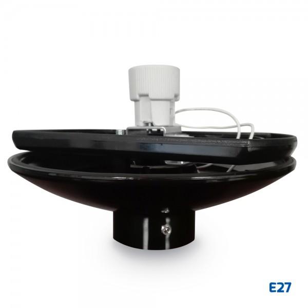 Base negra de policarbonato para bola E27