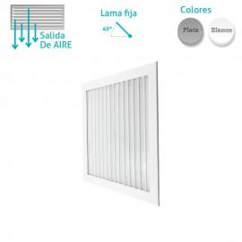 Rejilla Aluminio Lama Fija 45º para Techo Modular