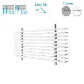 Rejilla Aluminio Lineal Sin Marco Inclinación 0º