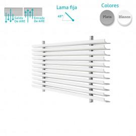 Rejilla Aluminio Lineal Sin Marco Inclinación 20º
