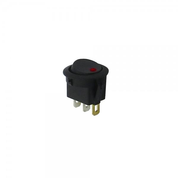 Interruptor Empotrable de Balancin 6.5A 250V con piloto luminoso