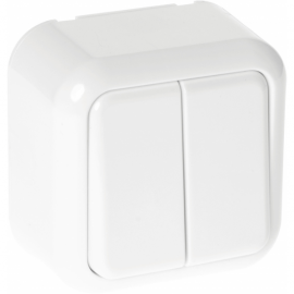 Interruptor Doble Ancient 2 Teclas Blanco 6x6x4