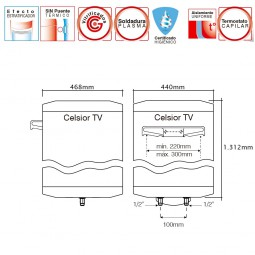 Termo Electrico Idrogas Celsior TV 150 L. 2.000W 230V