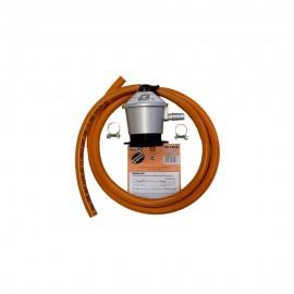 Kit de manguera y regulador para butano 1.5m
