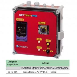 """CUADRO TEMPERATURA """"SETTEMP"""" MONO/MONO 0,75KW (7A) + SONDA"""