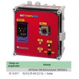 """CUADRO TEMPERATURA """"SETTEMP + PROGRAMADOR"""" TRI/TRI 0,75KW (2,2A) + SONDA"""