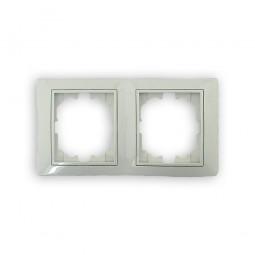 Marco de 2 ventanas vertical blanco Solera Europa