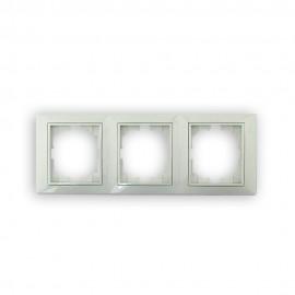 Marco de 3 ventanas vertical blanco Solera Europa
