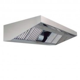 CAMPANA BAJA SILUETA TAU-FIRE PARED 400ºC/2h (ECO-FIRE) 2000X750  9/9 3/4