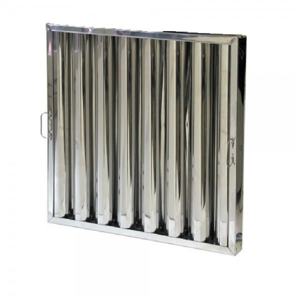 FILTRO EGC SEPARADOR LAMAS INOX  AISI 430 DE 490X490X50MM.