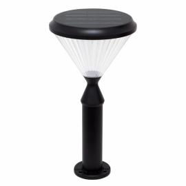 Sobremuro Solar Ra 6w 6500k Sensor Crepus. Negro   Ip65 Interruptor De Corte 51x26d