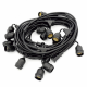 Cable Portalamparas 5 metros de 10 E27 Ip65