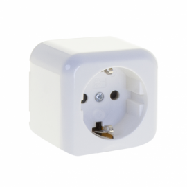Enchufe Simple Ancient Blanco 6x6x4,5