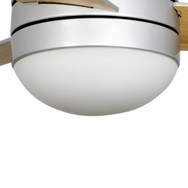 Recambio tulipa para ventilador blanco de policarbonato modelo Alisio con cristal