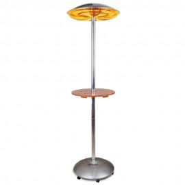 Estufa infrarrojo columna con mesa para terrazas