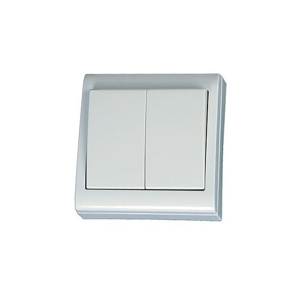 Doble interruptor de superficie blanco LG80 Focus