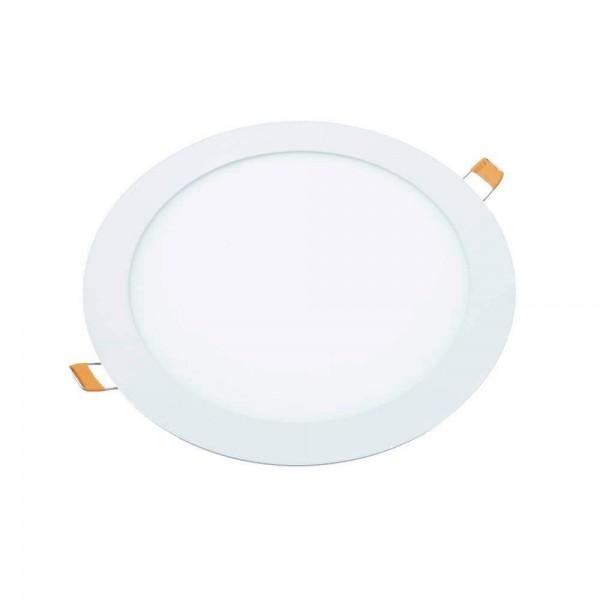 Pack de 2 Downlight blanco Led 18w redondo plano de empotrar luz cálida