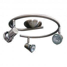 Plafon Foco Espiral Niquel GU10 50w