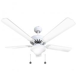 Ventilador de techo con luz Serie Orión Blanco/Blanco
